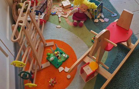 Eine Spielecke für die Jüngsten. Foto: Maike Steuer