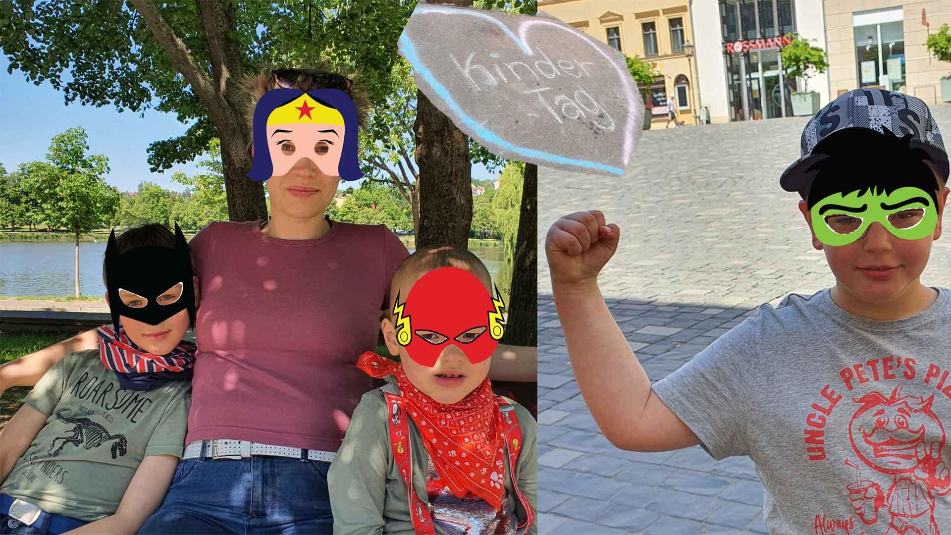Superhelden am Kindertag, Fotos: Maike Steuer
