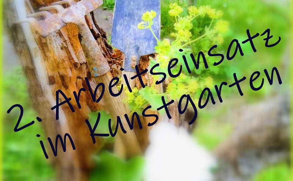 Flyer Arbeitseinsatz Kunstgarten