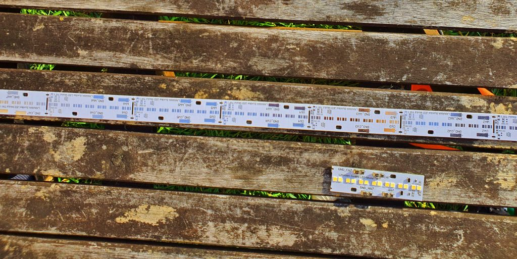 Leiterkarte mit LEDs in nackig. Foto: Maike Steuer