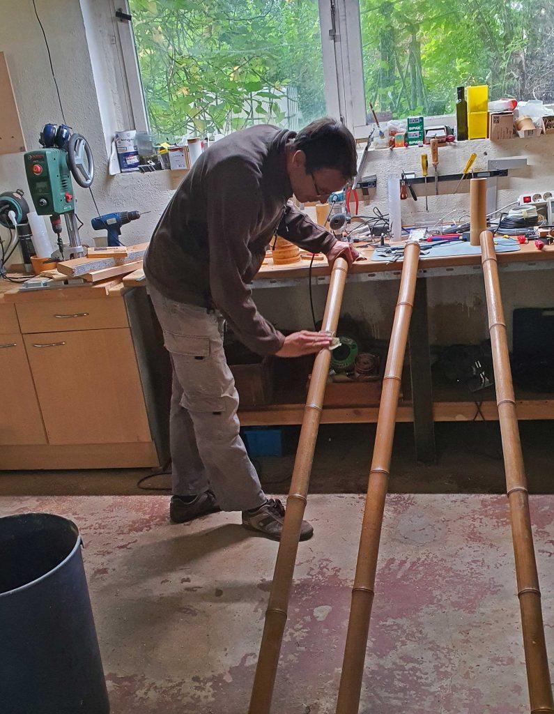 Andreas bei der Arbeit. Foto: Maike Steuer