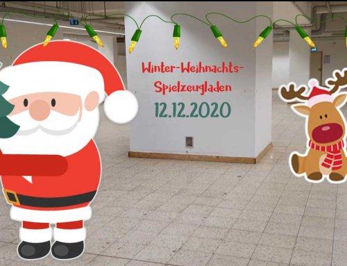 Winter-Weihnachts-Spielzeugladen für einen Tag