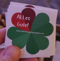 ALLes Gute Sticker, Foto: Maike Steuer