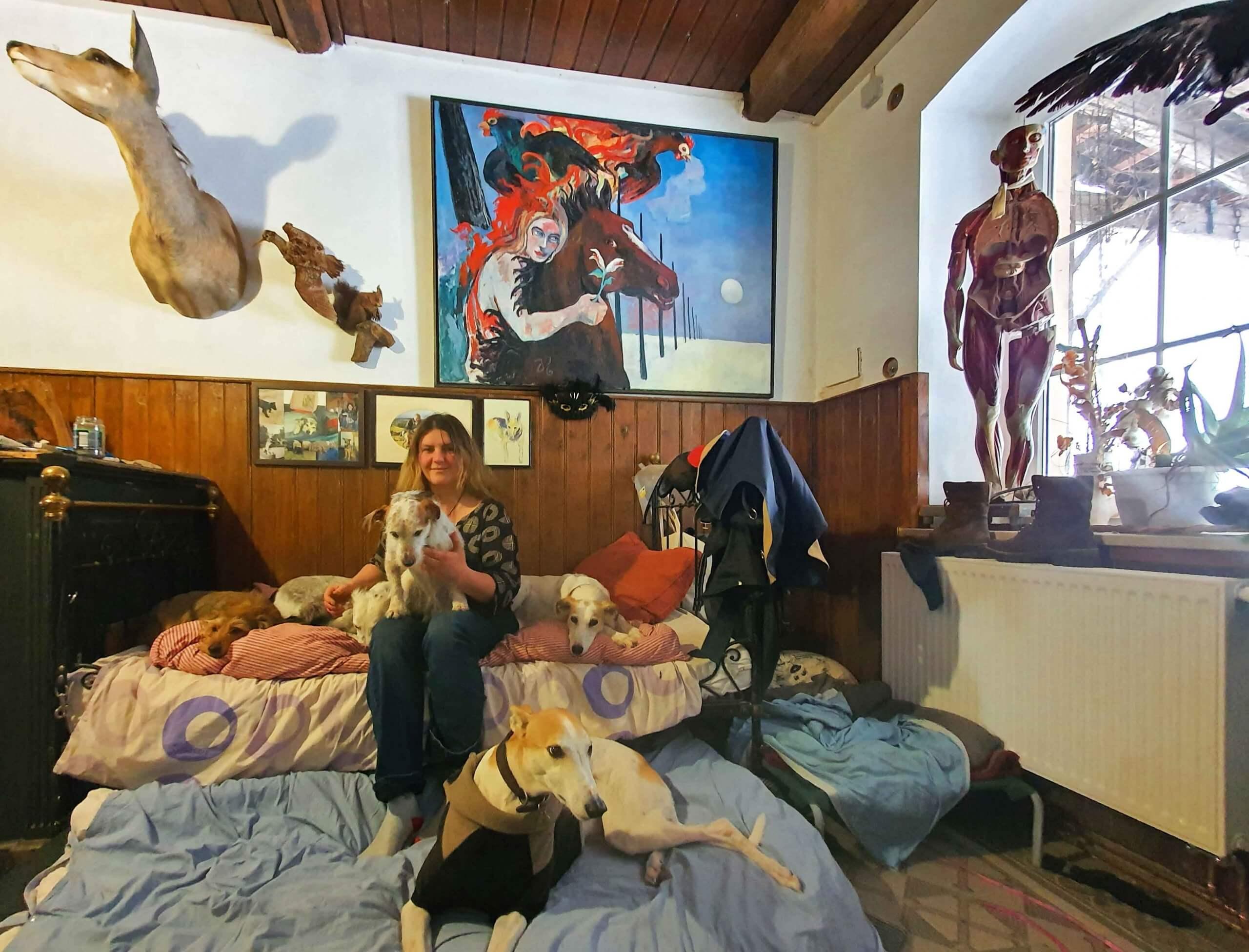Judith Kohler und ihre Hunde, Foto: Maike Steuer
