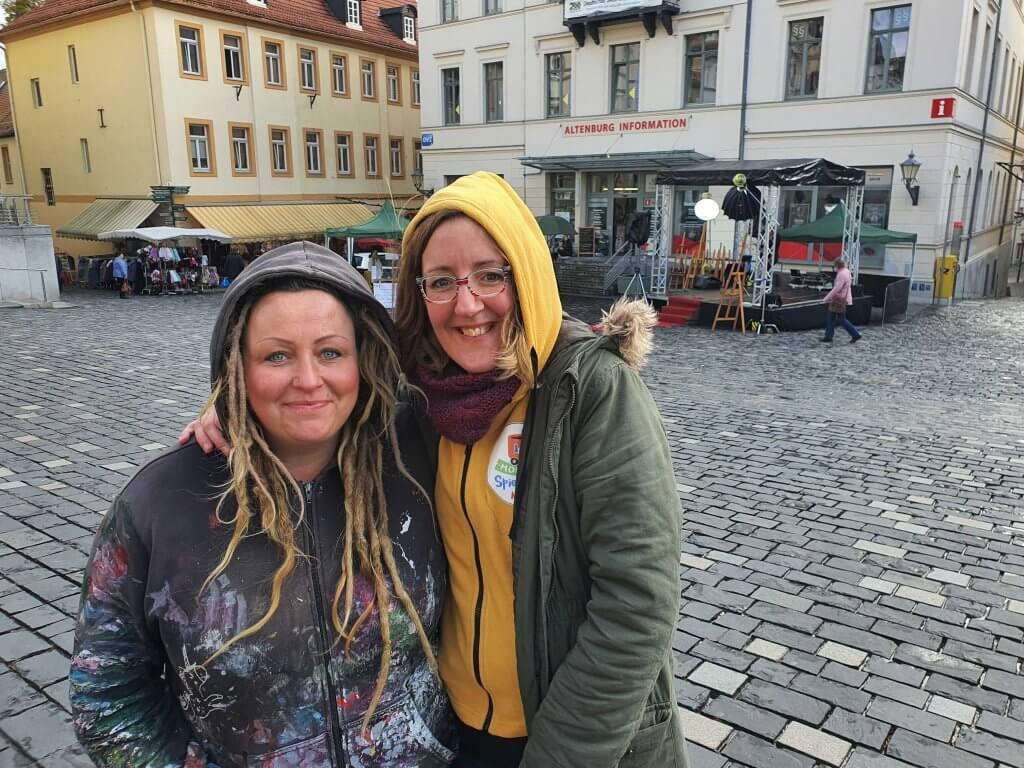 Susann Seifert und Maike Steuer bei Live und in Farbe, Foto: Sarah-Ann Orymek