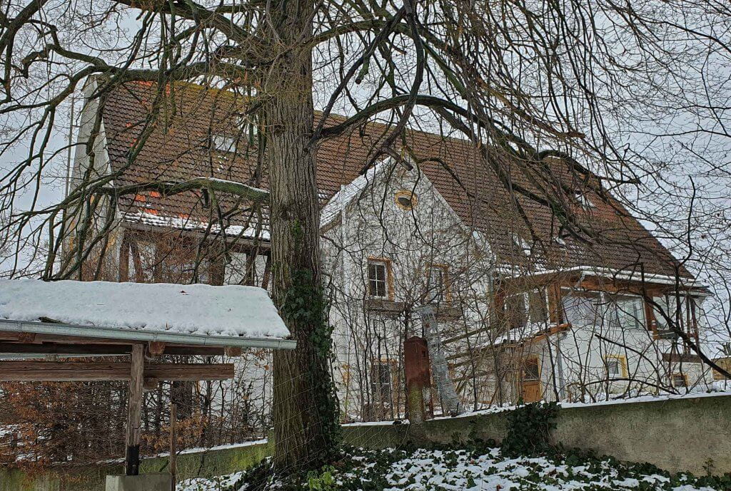 Das Wohnhaus in Modelwitz, Foto: Maike Steuer