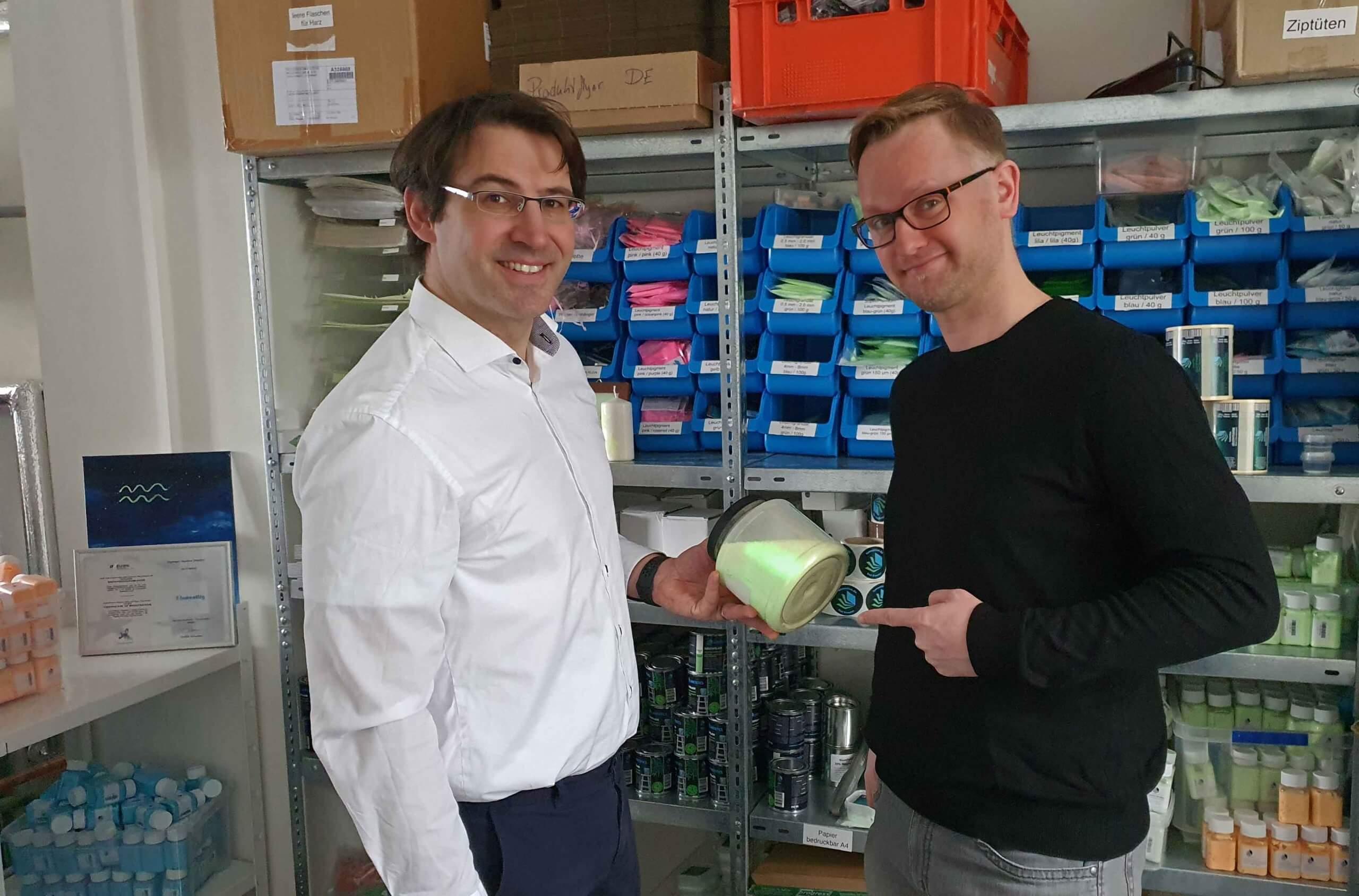 Falko Böttger-Hiller und Lars Erhardt sind die Gründer von Lumentics, Foto: Maike Steuer