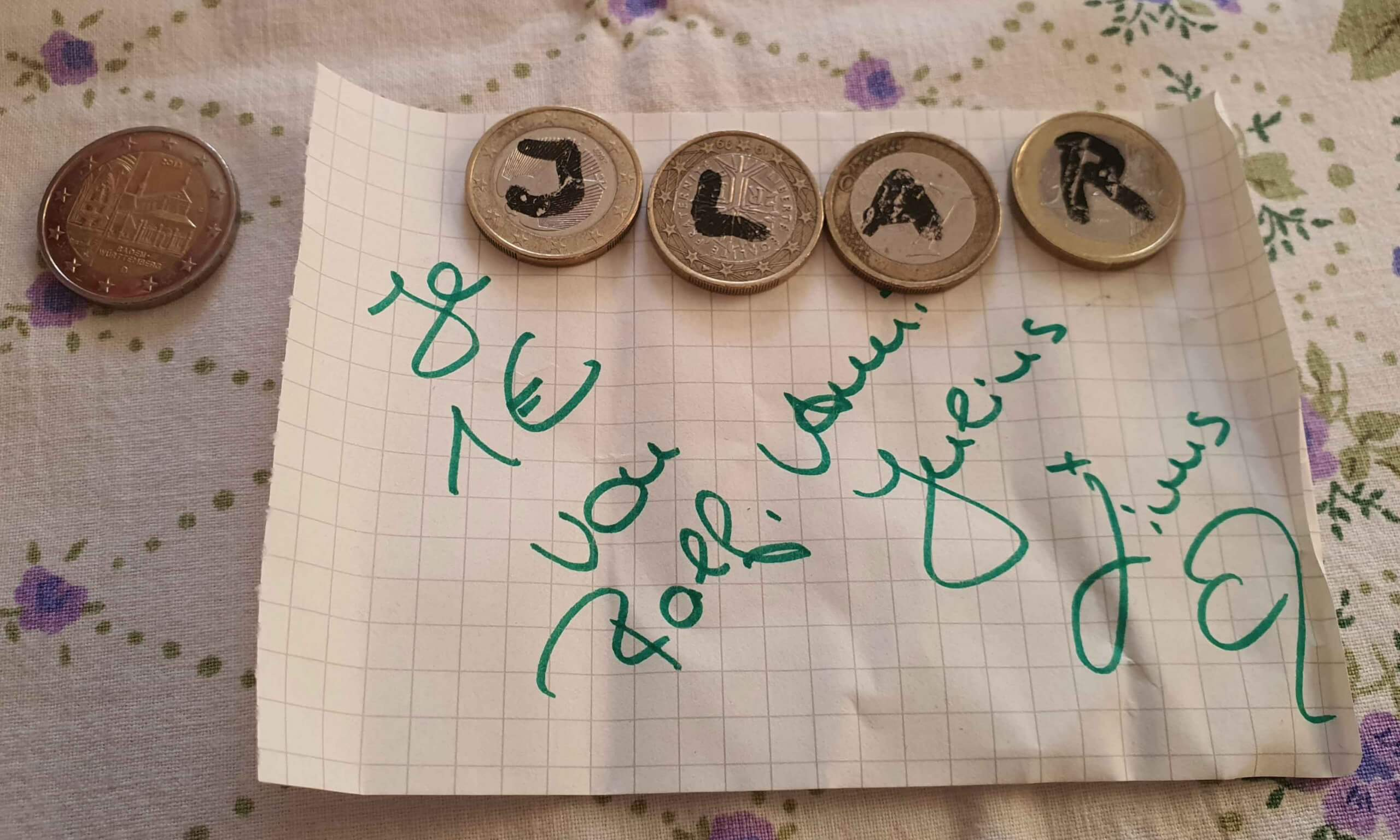 Spende mit Botschaft für den Kreativkonsum, Foto: M. Steuer