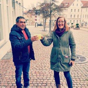 Joao und ich, Foto: D. Vogel